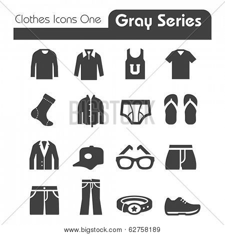Clothes Icons Gray Series One