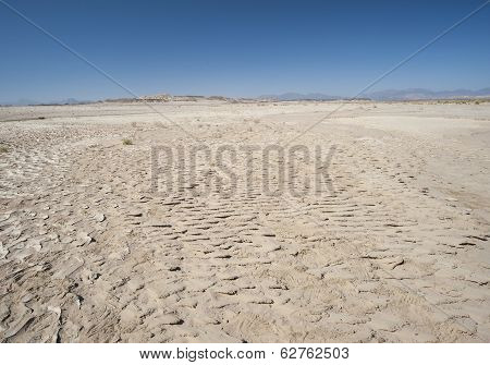 Barren Desert Landscape In Hot Climate