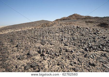 Rocky Mountain Slope In A Desert