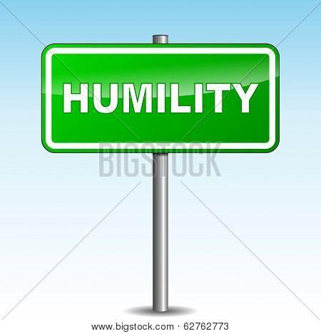 Vector Humility Signpost