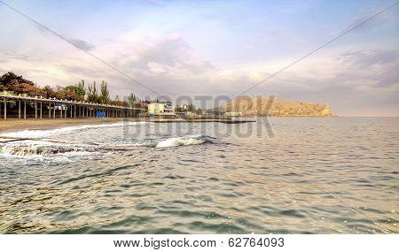Black Sea And City Sudak