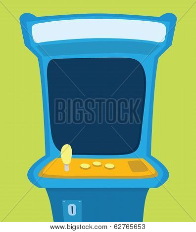 Arcade Machine With Blank Screen