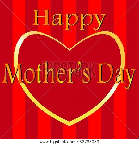 Happy Mothers day Card with Heart