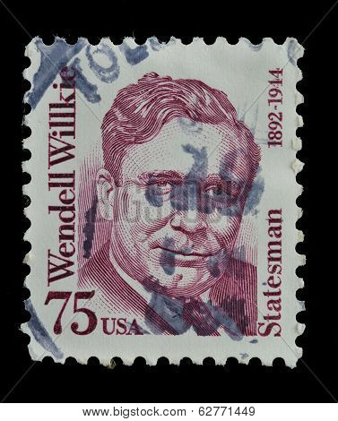 Usa. Postage Stamp Shows A Portrait (1992)