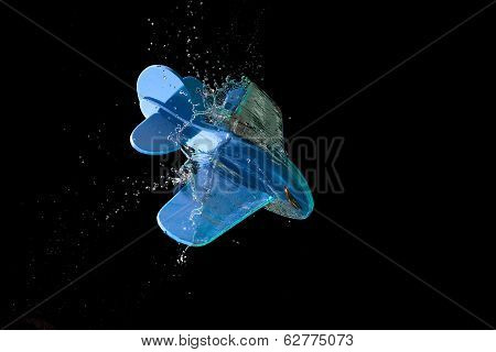 Toy Plane Crashing Through Water
