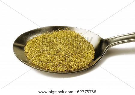 Spoon With Gold Dust Alluvial