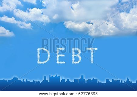 Debt Text On Cloud