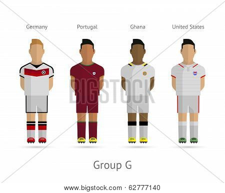 Football teams. Group G