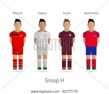 Football teams. Group H