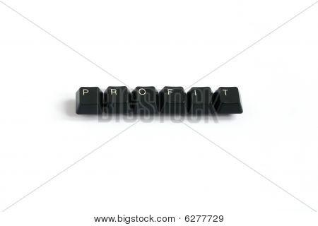 Profit Written With Keyboard Keys