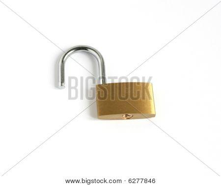 Unlocked Open Padlock