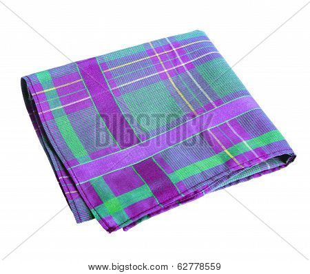 Purple green handkerchief