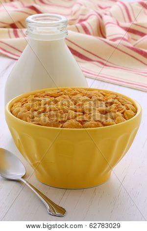 Healthy Corn Flakes Breakfast