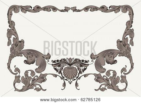 Vintage Ornate Curves Ornate Frame