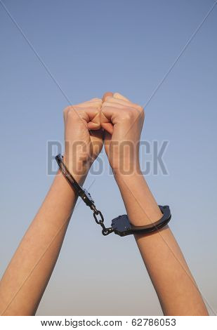 Handcuffed Woman Hands