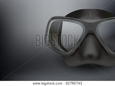 Underwater diving scuba mask