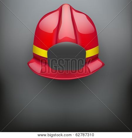 Red fireman helmet background