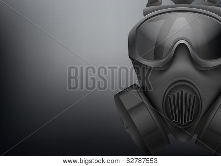 Background of Military black gasmask