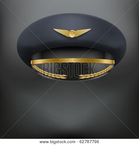 Aviator Peaked cap of the pilot.