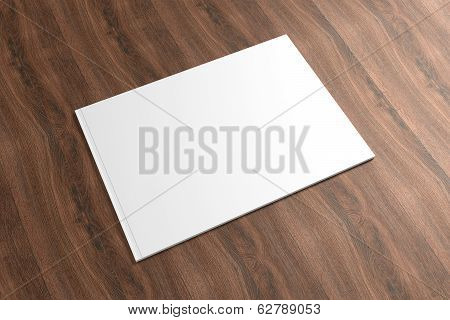 Blank Catalog On The Wooden Background