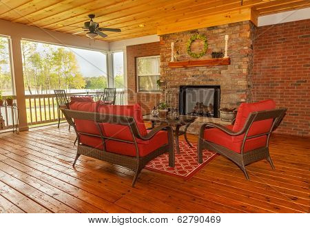 Screened-In Backyard Deck