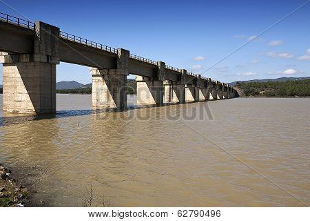 Railway line Cordoba - Almorchon, bridge of Las Navas