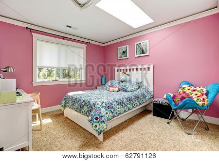Beautiful Pink Bedroom For Girls