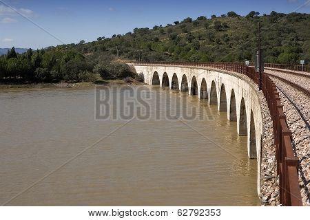 Railway line Cordoba - Almorchon bridge of Las Navas