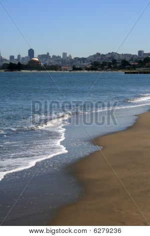 Beautiful Beach On San Francisco Bay