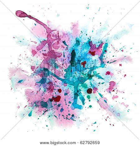 Multicolor watercolor splash
