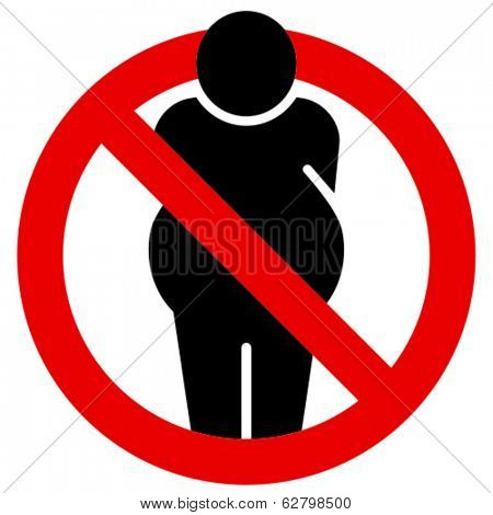 No fat people vector sign