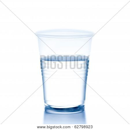 Plastic Cup With Water, Concept Of Nutrition And Diet