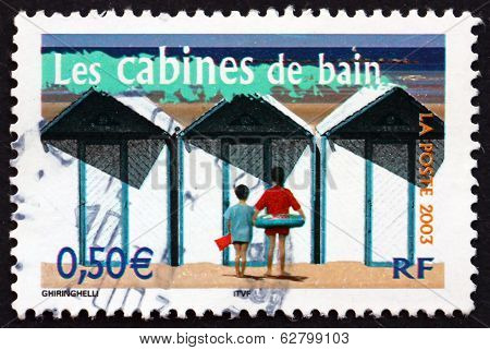 Postage Stamp France 2003 Beach Cabins