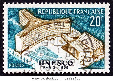 Postage Stamp France 1958 Unesco Building, Paris