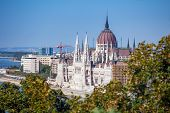 pic of hungarian  - View of Hungarian Parliament Building - JPG