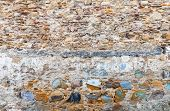 Ancient Colorful Stone Wall Background Texture. Tangier, Morocco