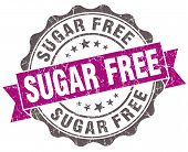 Sugar Free Violet Grunge Retro Style Isolated Seal