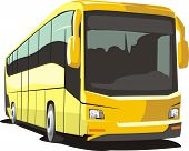 picture of motor-bus  - comfortable bus for transportation passenger by roads - JPG