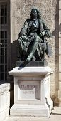 MONTPELLIER, FRANCE - AUGUST 14: Statues of Peyronie at the Faculty of Medicine of Montpellier on au