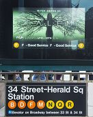 34 Street - Herald Square Subway Station entrance in NYC