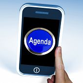 Agenda On Phone Shows Schedule Program
