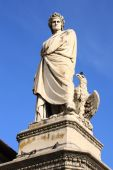 picture of alighieri  - Statue of Dante Alighieri in Florence Italy - JPG