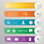 Banner Ribbon. Element Infographic. Web Icons