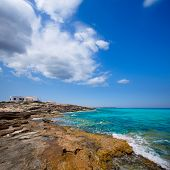 Es calo Escalo de sant Agusti Beach in Formentera Balearic islands