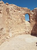 image of masada  - detail of fortress Masada in Israel - JPG