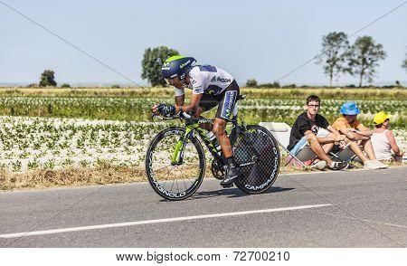 The Cyclist Nairo Alexander Quintana Rojas- White Jersey