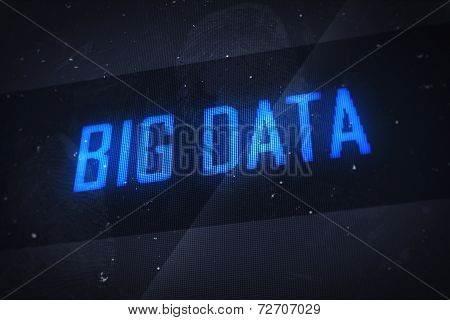 Big Data Text On Virtual Screens