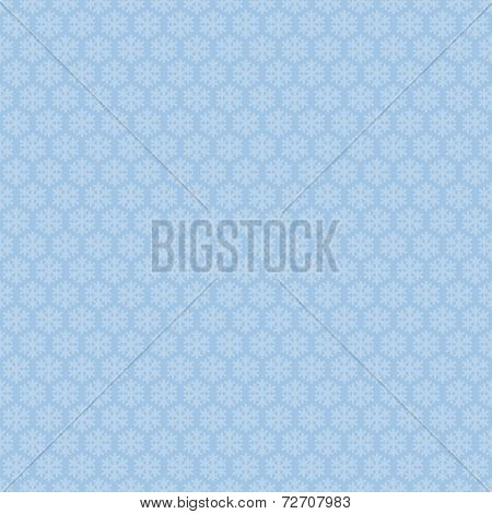 Blue seamless snowflakes pattern. Vector snow background. Christmas illustration. Can be used for wa
