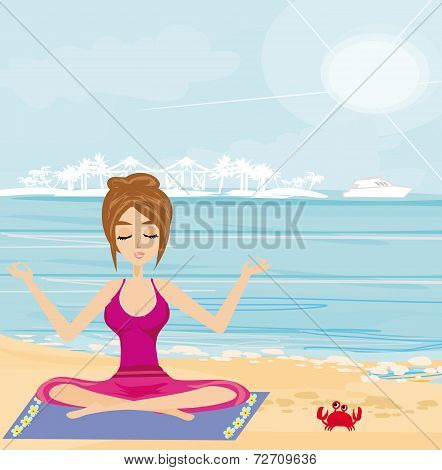 Yoga On A Tropical Beach