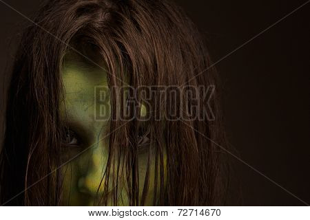 Scary Zombie Face